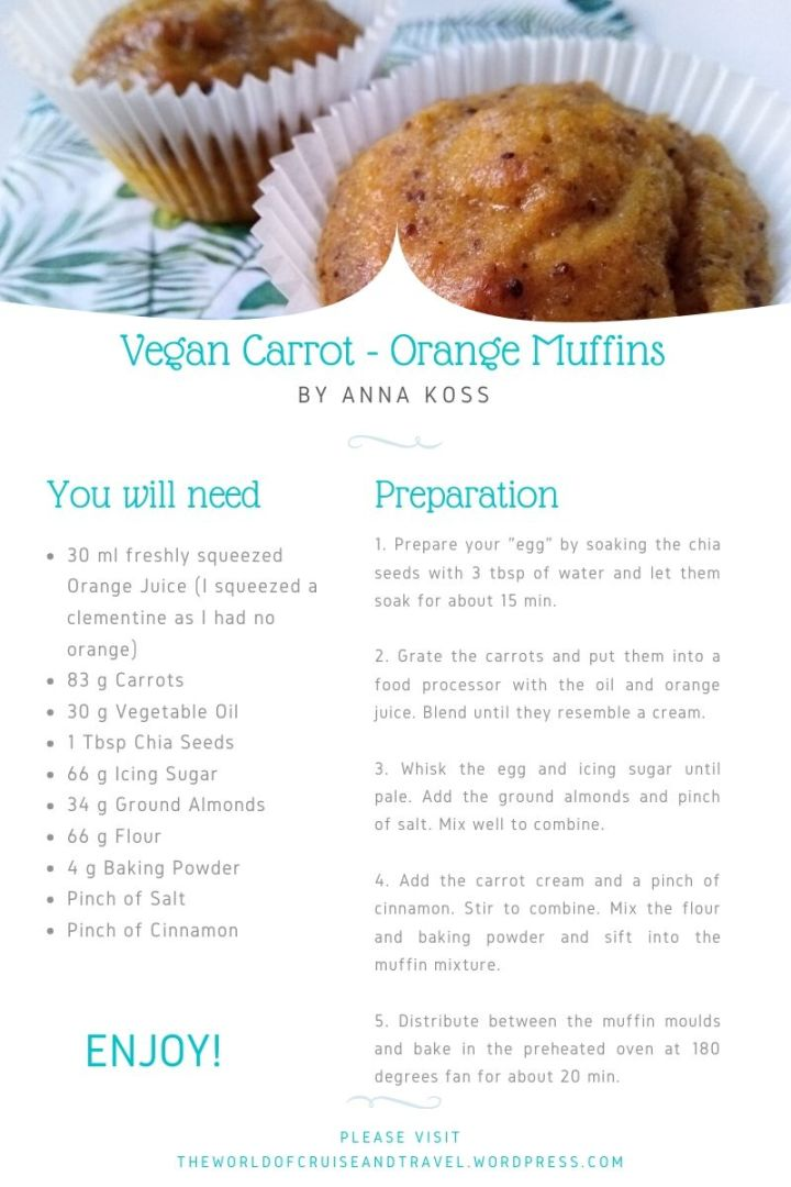 Vegan Carrot - Orange Muffins