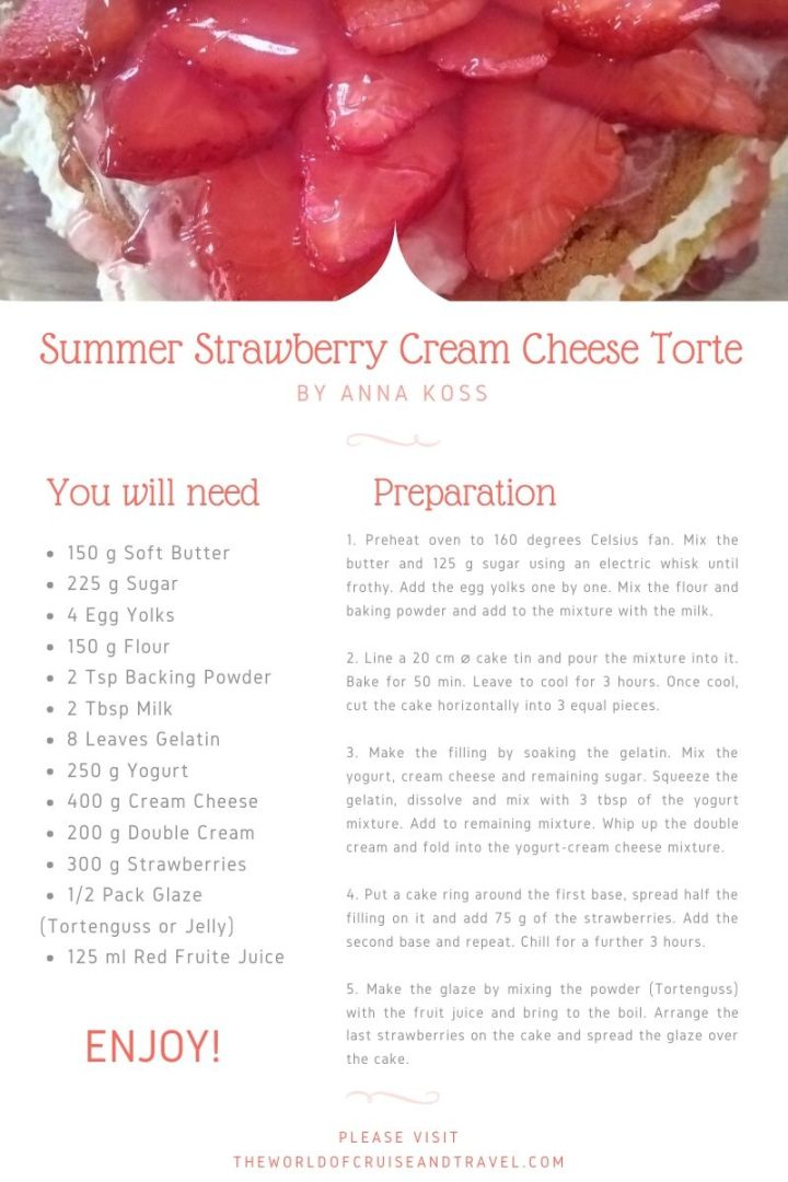 Summer Strawberry Cream Cheese Torte