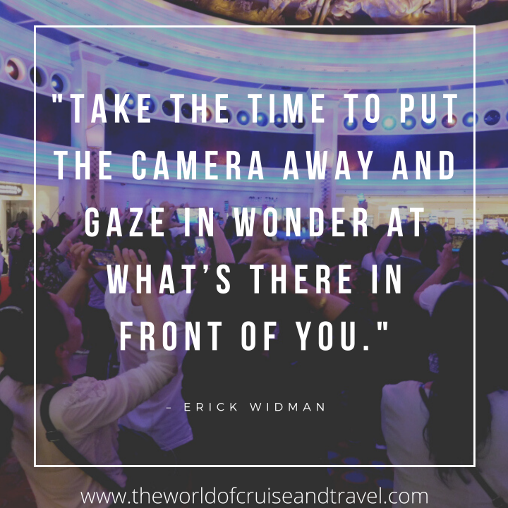 Travel Quote - Put That Camera Away Instagram